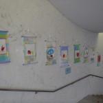 「絵画造形(4・5歳児クラス)」の作品を飾りました。